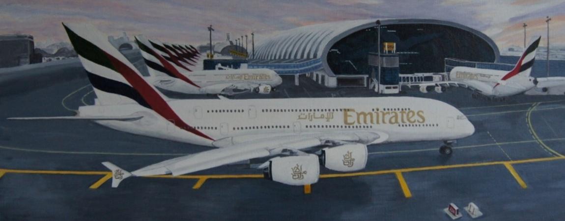 Airbus A380, terminal 3 Dubai'