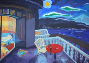 Schilderij geïnspireerd op het werk 'Montreux', van J. Sluijters