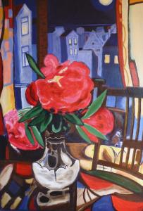 Schilderij geïnspireerd op het werk 'Rhodondendrons' van J. Sluijters